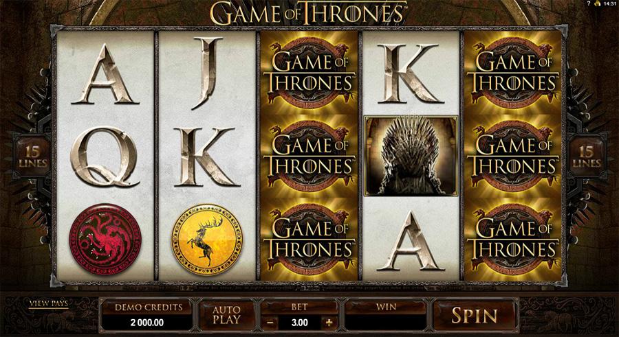 """Game Of Thrones Slots"" لعبة الكازينو"